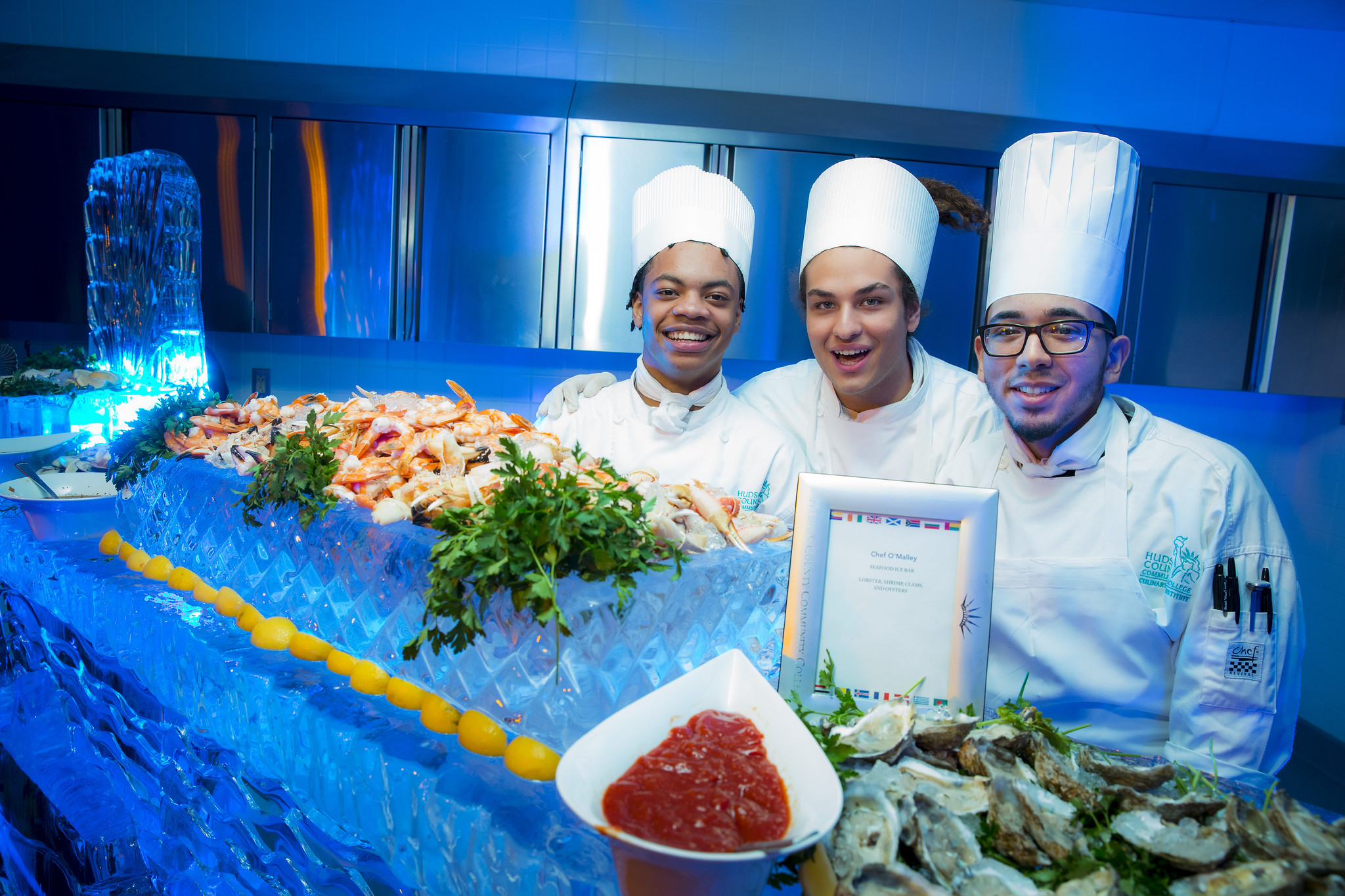 Culinary students at a event