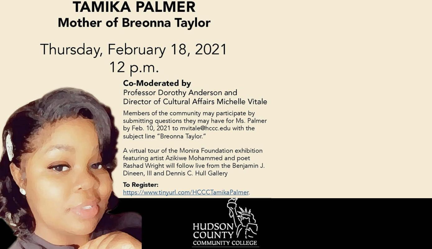 Tamika Palmer, HCCC Speaker Series